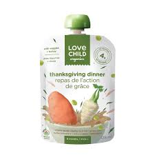 child organics thanksgiving dinner with veggies turkey baby