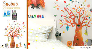 stickers repositionnables chambre bébé baobab stickers muraux repositionnables big room by djeco