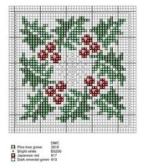 winter and with berries cross stitch chart