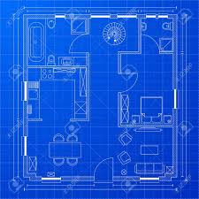 blueprint of house detailed illustration of a blueprint floorplan royalty free
