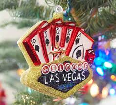 vegas sign ornament pottery barn