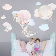 buy wall stickers for nursery online gorgeous design in removable magic balloon removable wall stickers with 2 little girls sitting in front