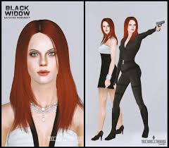 hair color to download for sims 3 7 best the sims 3 black widow the avengers images on pinterest