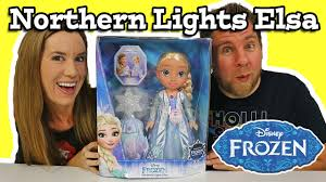disney frozen northern lights elsa music and light up dress disney frozen northern lights elsa doll youtube