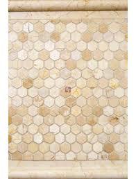 buy 1x1 crema marfil hexagon tumbled wallandtile com