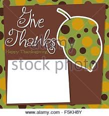 cut out funky thanksgiving card in vector format stock vector