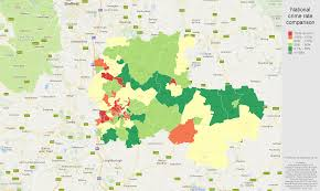 Crime Rate Map Nottingham Burglary Crime Statistics In Maps And Graphs