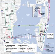Miami Train Map by Art Basel 2016 Guide How To Get Around During Miami Art Week