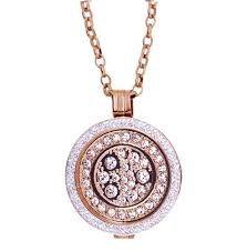 necklace coin images Karine co rose gold crystal coin necklace jpg