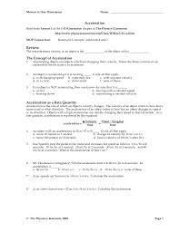 1d motion worksheet packet