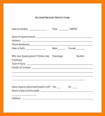 employee incident report templates 4 incident report exle students resume