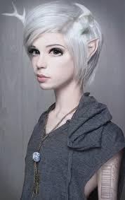 short white hair baka