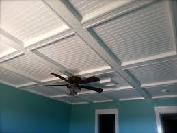 Ideas For Drop Ceilings In Basements Dress Up A Drop Ceiling By Replacing Fiberglass Tiles With