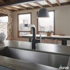 farm house sink danze opulence chrome kitchen faucet with sprayer
