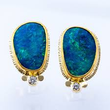 blue opal earrings earrings u2014 fairbank and perry goldsmiths
