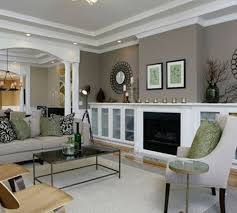 great living room colors benjamin moore storm paint color love the shelves for basement