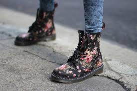 womens black combat boots target doc dr martens 1460 womens print black flowers ebay