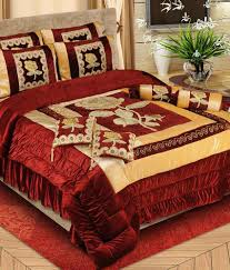 Bed Quilts Online India Bharti Wedding Bedding Set Pack Of 8 Buy Bharti Wedding Bedding