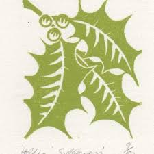 image result for poinsettia lino print card ideas