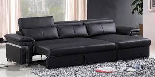 Black Sofa Sleeper Black Leather Sleeper Sofa With Modern Design 2018