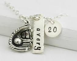 baseball jewelry baseball necklace etsy
