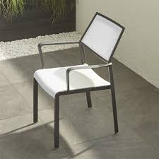 mesh patio furniture contemporary largo white dining chair crate and