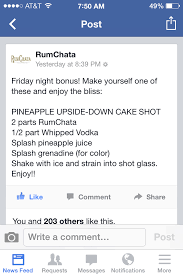 rumchata pineapple upside down cake shot drinks pinterest