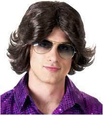 men feathered hair 70s feathered man wig walmart com