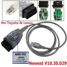 lexus international trade hk ltd mini vci j2534 obdii usb cable diagnostic scanner for toyota lexus