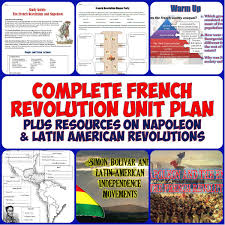 french revolution complete unit bundle american revolution