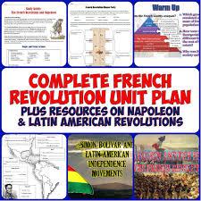french revolution complete unit bundle american revolution