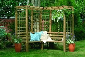 4 seater corner wooden garden arbour pagoda trellis frame