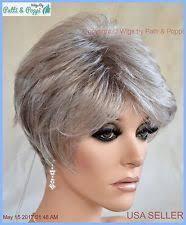 salt and pepper pixie cut human hair wigs salt and pepper wig ebay