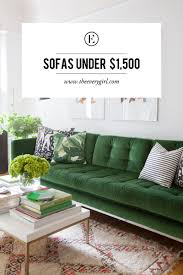 Couch Under 500 by The Best Affordable Sofas For Every Budget The Everygirl