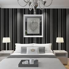 Black And White Striped Wallpaper by Black Floral Wallpaper Reviews Online Shopping Black Floral