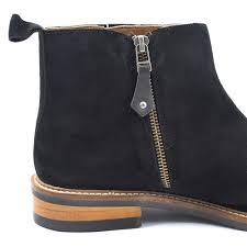 shop black suede zip up boot mens design gucinari