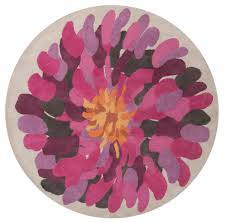 Round Flower Rug by Surya Bombay Bst529 Red Area Rug Free Shipping