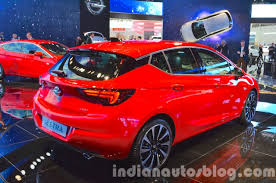 opel astra 2015 2016 opel astra rear three quarter at the iaa 2015 indian autos blog