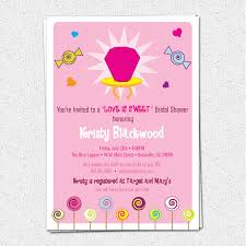 bridal shower invitations wording candy bridal shower invitations is sweet ring pink pop