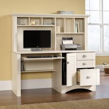 white desk with hutch and drawers harbor view computer desk with hutch 158034 sauder