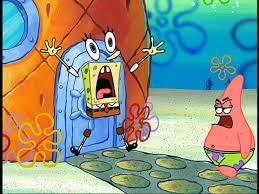 image spongebob scared at patrick png encyclopedia spongebobia