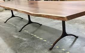 Living Edge Dining Table by Giant Black Walnut Live Edge Dining Table Bjorling Grant