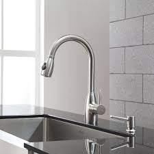 restaurant kitchen faucets kitchen kraus faucet for a streamlined look and easy installation