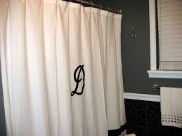 White Linen Shower Curtain Coffee Tables Personalized Shower Curtains White Monogrammed