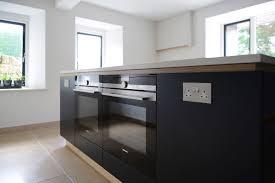 Grey Kitchen Island Minimalist Dark Blue And White Kitchen