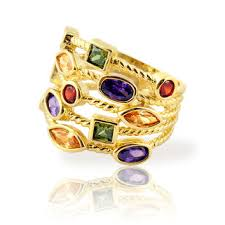 colored gemstones rings images Best stackable gemstone rings products on wanelo jpg