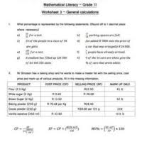 maths literacy archives e classroom