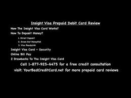 prepaid debit card reviews insight visa prepaid debit card review
