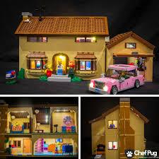 light brick sets led light kit only for 71006 the simpsons house lighting bricks