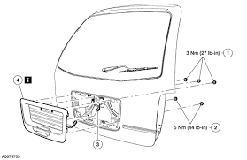ford freestar liftgate schematic 28 images 2007 ford freestar